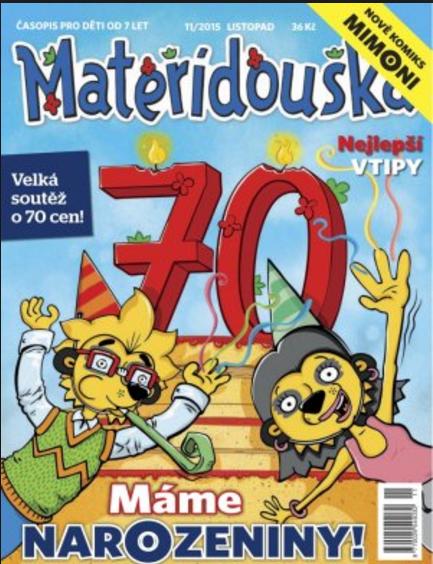 Časopis Mateřídouška slaví 70 let