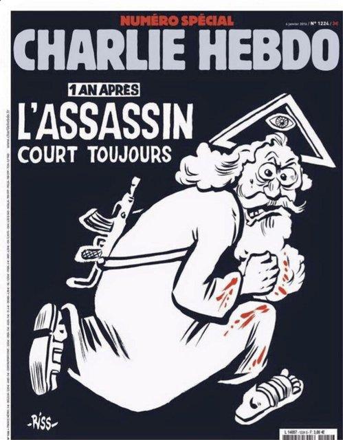Charlie Hebdo pobuřuje kontroverzní satirou i rok po teroristickém útoku na svou redakci