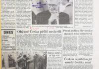25 let od vzniku České republiky aneb ohlédnutí za tiskem v roce 1993