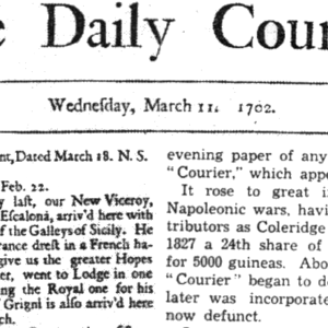 11. 03. 1702 – První britský deník The Daily Courant spatřil svět