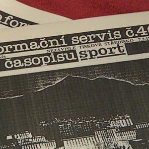 20. listopad 1989 – První vydání Informačního servisu