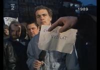 22. listopad 1989: Studio Kontakt odvysílalo šest přímých vstupů z Václavského náměstí