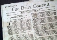 11. března 1702 – Vyšel první britský deník The Daily Courant