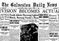 7. duben 1927 – První dálkové televizní vysílání mezi Washingtonem DC. a New Yorkem